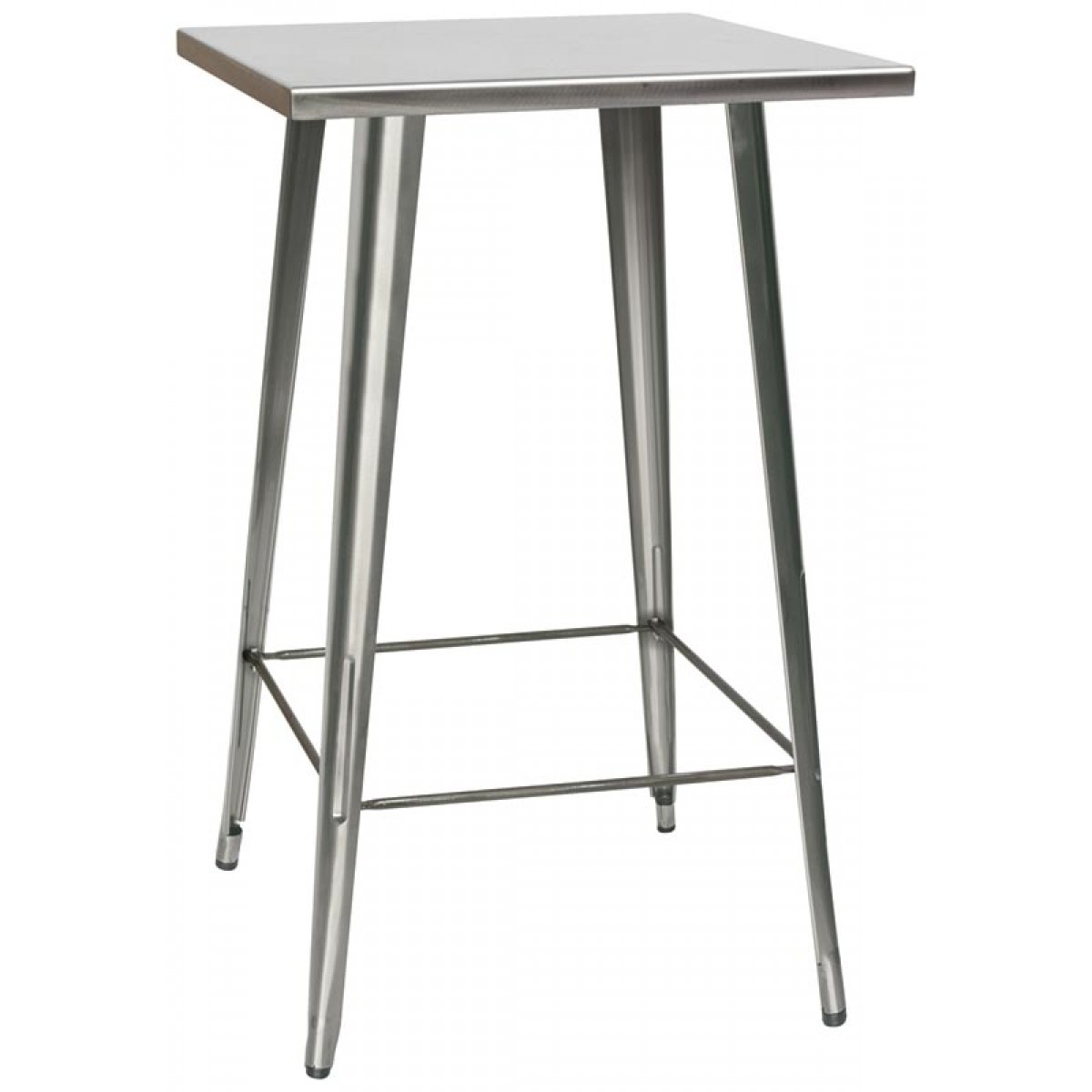 Tavolo bar stile industrial in metallo cm 65x65x107h for Tavolo industrial style