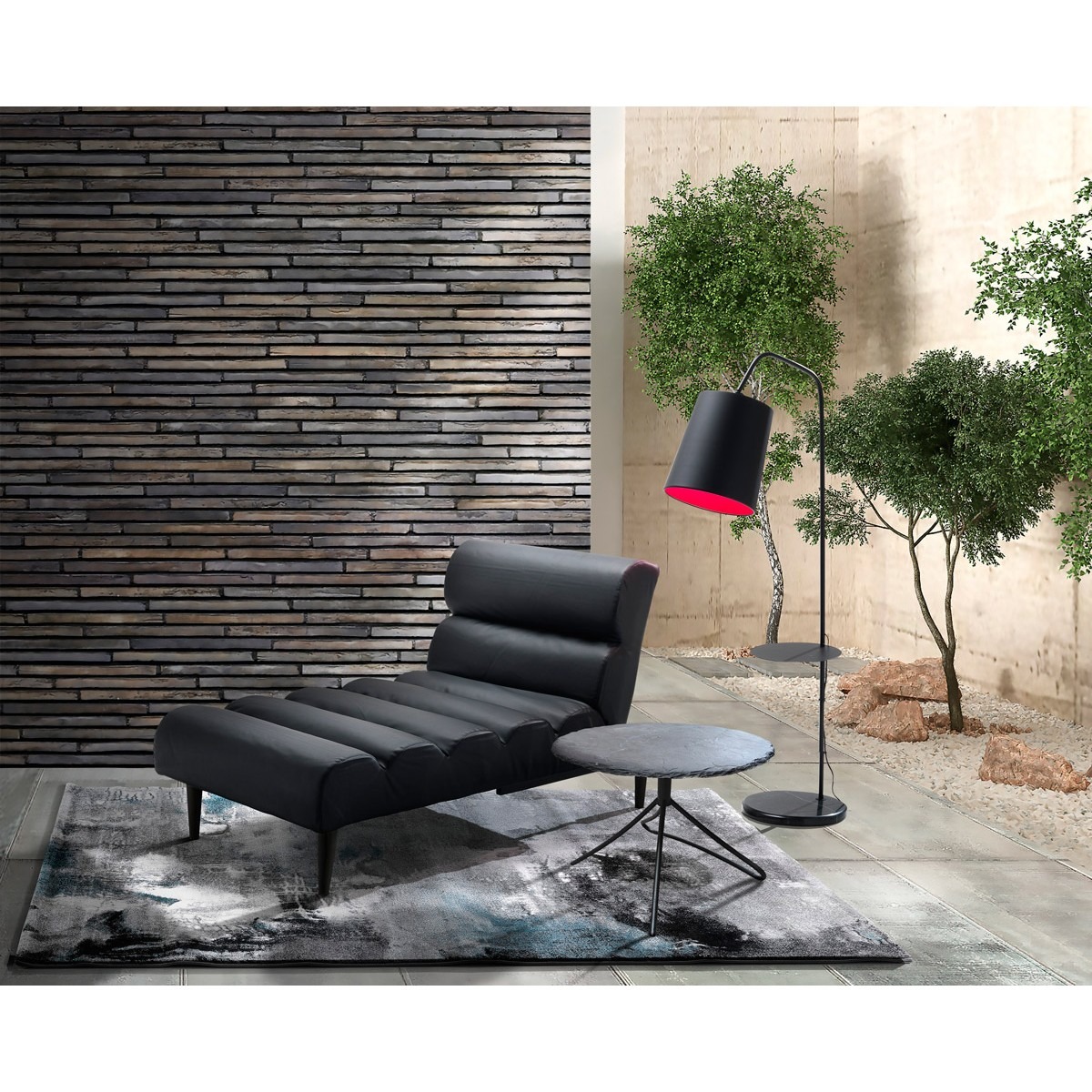 Chaise longue lettino design moderno in similpelle colore ...