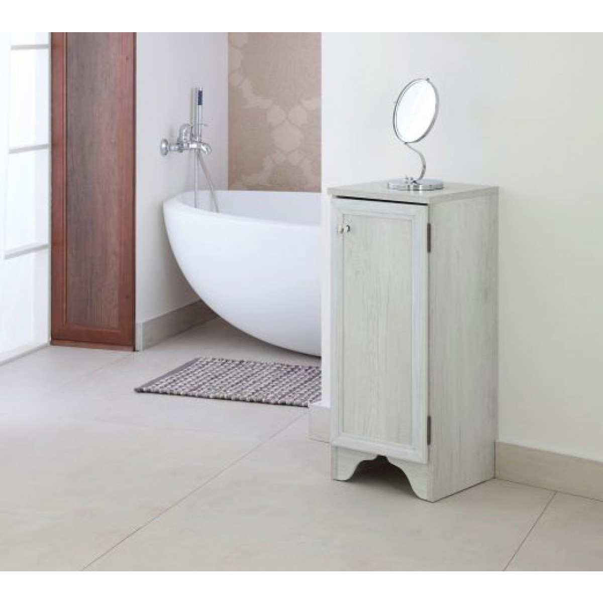 Mobiletto bagno in arte povera con anta cm 33x33x78h for Mobiletto design