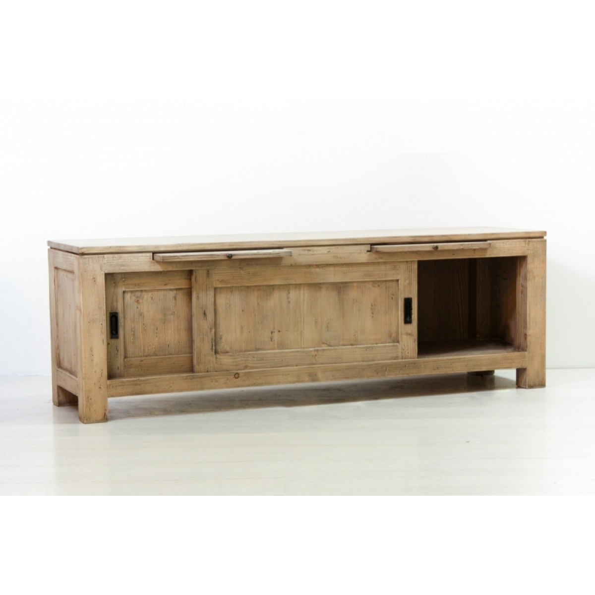 Mobile porta tv in legno massello di abete cm 150x40x50h - CollyShop