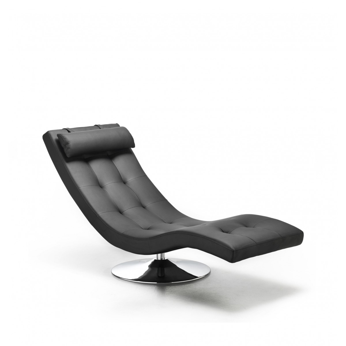 Chaise Longue Design Moderno.Chaise Longue Moderna Da Salotto In Ecopelle Colore Nero