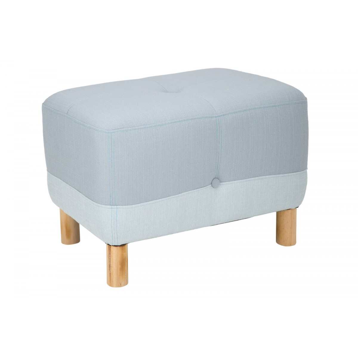pouf design moderno per camera o salotto in tessuto bicolore azzurro e celeste gambe in legno di. Black Bedroom Furniture Sets. Home Design Ideas