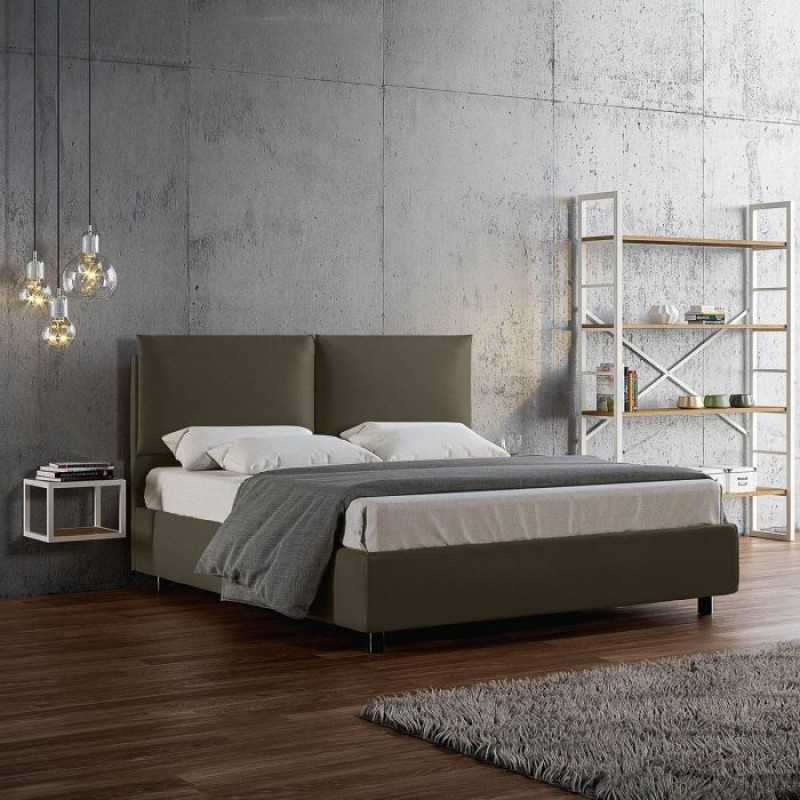 Letto Design Contenitore.Letto Design Contenitore Similpelle Moderno Con Doghe