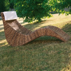 chaise lounge in banano naturale
