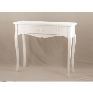 mobile ingresso consolle shabby colore bianco