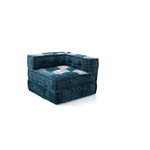poltrona chaise longue in cotone blu
