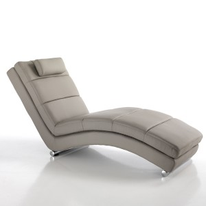 chaise lounge in similpelle tortora