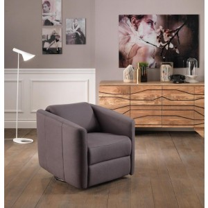 poltrona relax moderna in similpelle vintage antracite