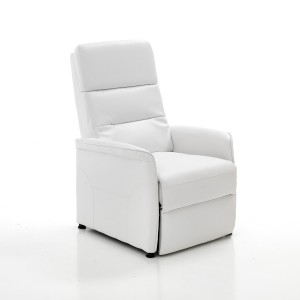 poltrona relax reclinabile similpelle bianco