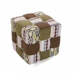 pouf cubo moderno patchwork