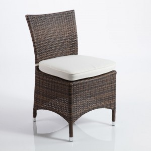 sedia in polyrattan marrone
