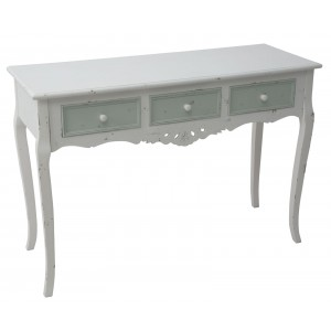 consolle shabby chic bianca in legno