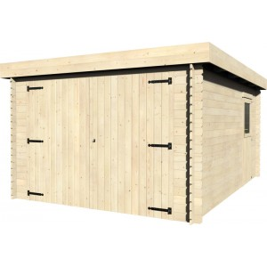 garage in legno di abete blockhouse