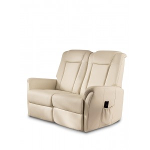 Poltrona relax a due posti similpelle colore  beige