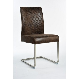 poltroncina sedia industrial vintage in similpelle